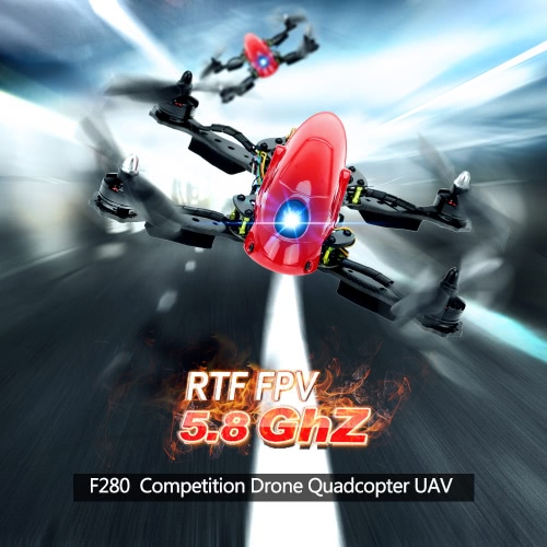 Original Lieber F280 5.8GhZ RTF FPV Competition Drone Quadcopter UAV with Original RadioLink AT9 DSSS 9CH Transmitter 700TVL Camera Lens