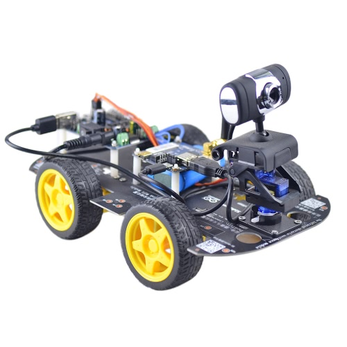 DS Wifi FPV Smart 4WD DIY RC Robot Car with 1.3MP HD Camera Support PC Mobile Phone Control Monitoring