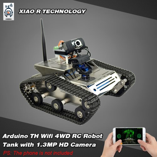 Smart  Wifi DIY Crawler RC Robot Tank with 1.3MP HD Camera Support PC Mobile Phone Control Monitoring