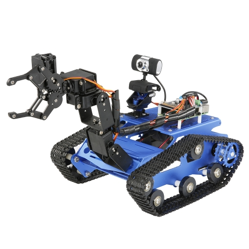 TH Robot Wifi Smart DIY Crawler RC Robot Tank with Manipulator 480P Camera PC Mobile Phone Control Education Tool