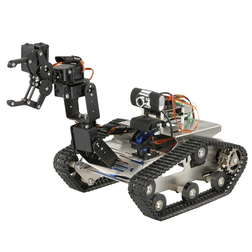 TH Roboter Wifi Intelligente DIY Crawler RC Roboter Tank mit Manipulator 480 P Kamera PC Handy Control Education Tool