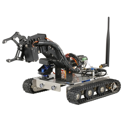 GFS Robot Wifi Smart DIY Crawler RC Robot Tank with Manipulator 480P Camera PC Mobile Phone Control Education Tool