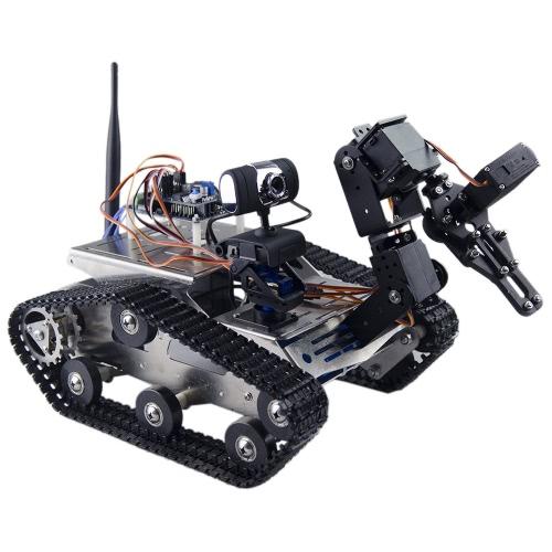 THRobotEx WifiスマートDIYクローラRCロボットタンクマニピュレータ1.3MP HDカメラサポートPC携帯電話制御監視
