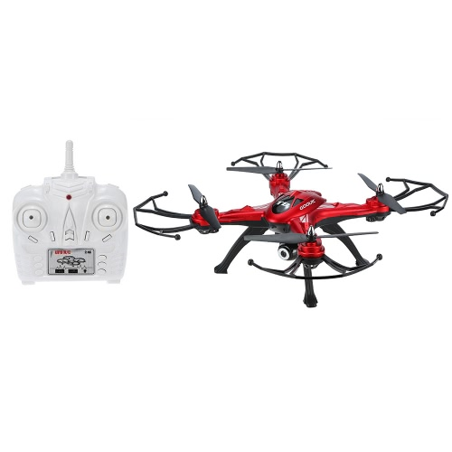Original GoolRC T8C 2.4GHz 4CH 6 eixos Gyro 2.0MP Câmera HD RC Quadcopter com uma chave Return CF Mode 360 ​​° Eversion Function