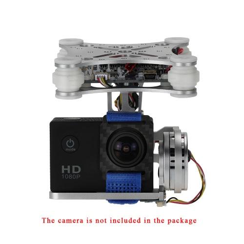 OCDAY 2 軸ブラシレス PTZ コントロール パネル ジンバル Gopro3 4 DJI SJ4000 SJ5000 空中写真シルバー