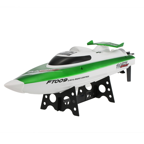 Original Feilun FT009 2.4G 30km / h de alta velocidad RC Racing Boat con refrigeración por agua Self-righting System Toy Gift