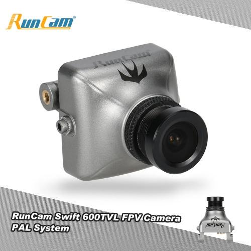 QAV250 180 210 RCクワッドローターのためにブロックされたオリジナルRunCamスウィフト600TVL FPV PALカメラ2.8ミリメートルレンズ&ベースホルダーIR