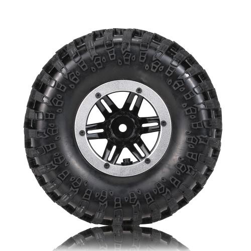 1/10用RC4WD D90アキシャルSCX10クローラトラックのためのオリジナルAustarチャンネルAX-3021SRエア空気圧ビードロックホイールリムとタイヤ