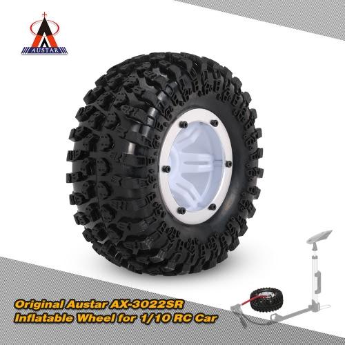 Original Austar AX-3022SR Air Pneumatic Beadlock Wheel Rim and Tire for 1/10 RC4WD D90 Axial SCX10 RC Crawler Truck
