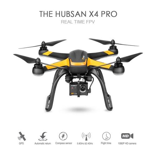 Original Hubsan X4 Pro H109S 5.8G FPV Drone com 1080p HD Camera um eixo cardan GPS RTF RC Quadrotor Baixo Edição