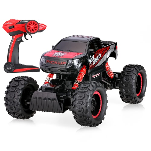 HB-P1401 2.4G 1:14 escala 2CH 4WD eléctrico RTR Rock Crawler Off-Road RC coche con luz LED