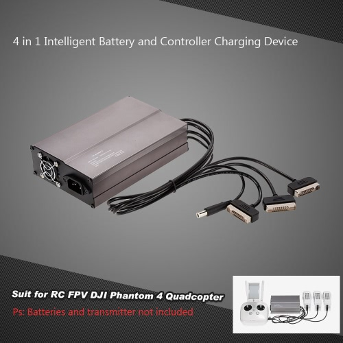4 in 1 Intelligent Battery and Controller Charging Device for RC FPV DJI Phantom 4 Quadcopter