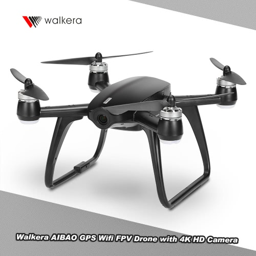 walkera aibao gps wifi fpv drone 4k hd camera virtual racing rtf rc quadcopter