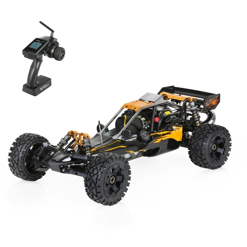 Rovan Baja320-02 32cc 2-Stroke Single-Zylinder 1/5 2.4GHz 4CH Benzin angetriebene Wüsten-Buggy RTR RC Auto mit LCD-Bildschirm Transmitter
