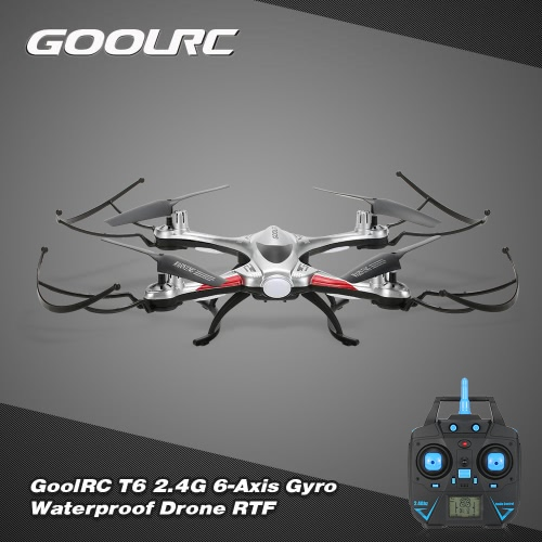 Original GoolRC T6 Waterproof   2.4G 4CH 6-Axis Gyro Drone with Headless Mode One Key Return RC Quadcopter RTF