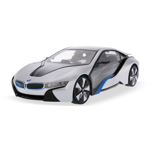 RASTAR 49600-11 27MHz R/C 1/14 BMW I8 with Interior Light Radio Remote Control Sport Racing Model Car