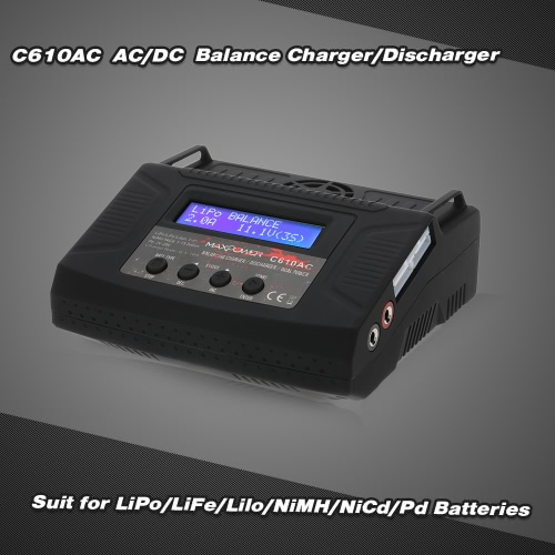 C610AC 10A/100W AC/DC Dual Power Rapid Balance Charger/Discharger for LiPo/LiFe/Lilo/NiMH/NiCd/Pd Batteries
