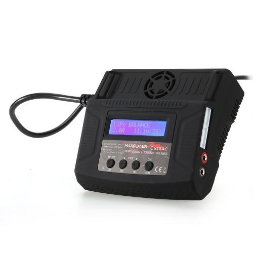 C610AC 10A / 100W Chargeur / déchargeur à double puissance / batterie rechargeable pour LiPo / LiFe / Lilo / NiMH / NiCd / Pd Batteries
