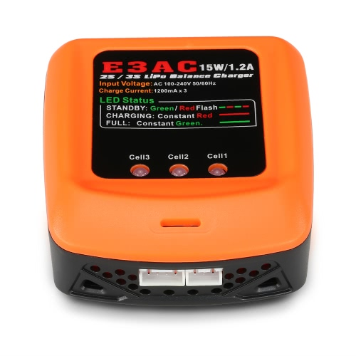 E3AC 15W / 1.2A Profesjonalna ładowarka balansująca do akumulatora LiSo 2S / 3S