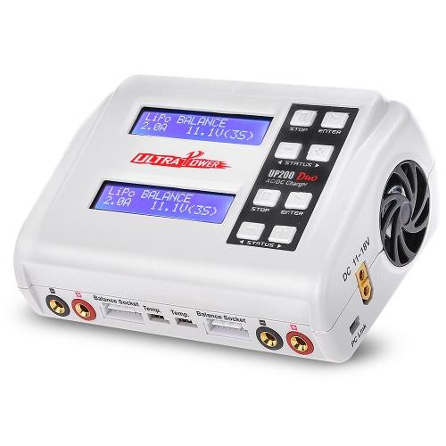 Ultra Power UP200 DUO 200W 10A Chargeur / Déchargeur de Batterie AC / DC pour LiPo LiFe Lilon LiHV NiCd NiMh Pb RC Batterie