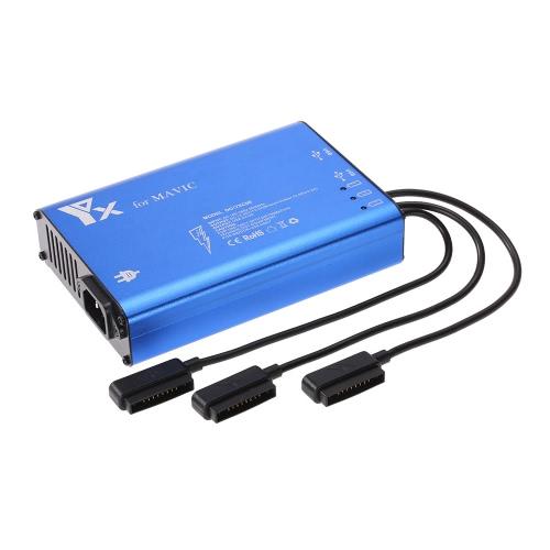 Chargeur 5 en 1 pour DJI Mavic Pro FPV Drone 3 Batterie intelligente et télécommande et charge de téléphone intelligent