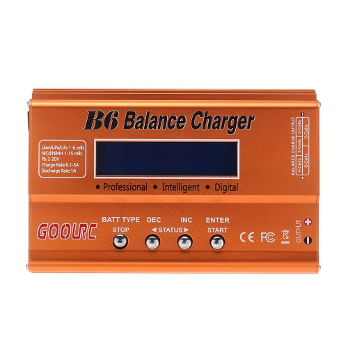 Original GoolRC B6 Mini Multi-functional Balance Charger/Discharger with AC/DC Adapter for LiPo Li-ion LiFe NiCd NiMH Pb RC Battery