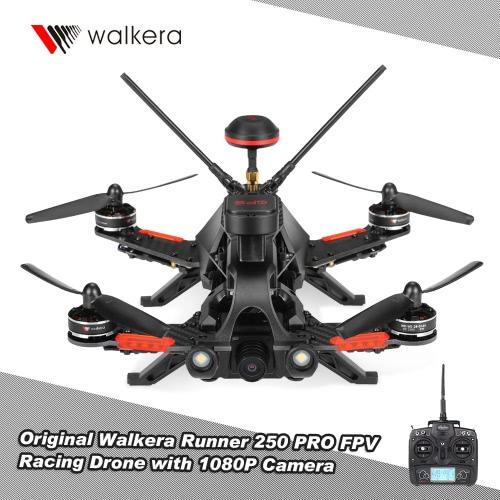 Original Walkera Runner 250 PRO 1080P 5.8G FPV Racing Drone RC Quadcopter avec GPS / GLONASS OSD DEVO 7 Transmetteur