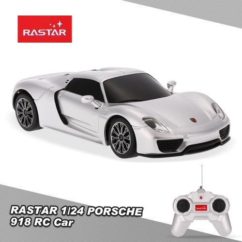 RASTAR 71400 27MHz 1/24 PORSCHE 918 Spyder RC Super Sports Car Simulation Model RTR