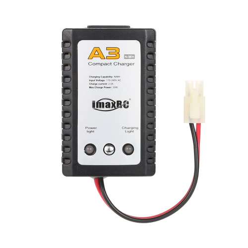 ImaxRC A3 Compact Charger with Tamiya Plug for RC Car Boat NiMH Battery