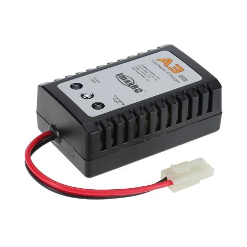 Chargeur compact ImaxRC A3 avec prise Tamiya pour batterie RC NiMH pour bateaux à moteur