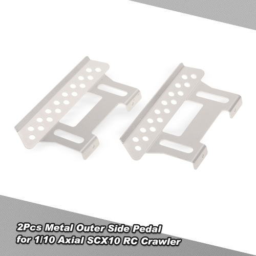 2Pcs Metal Outer Side Pedal Plate for 1/10 Axial SCX10 RC Rock Crawler Parts