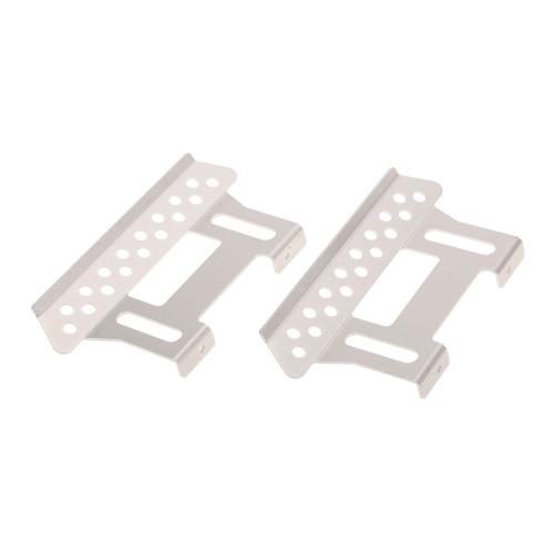 2Pcs Metalowa zewnętrzna strona Pedal Plate dla 1/10 Axial SCX10 RC Rock Crawler Parts