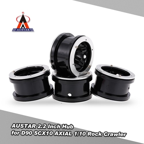 4Pcs AUSTAR AX2012BU 2.2 Inch Hub for 1/10 Rock Crawler Redcat SCX10 AXIAL RC4WD TF2 RC Car