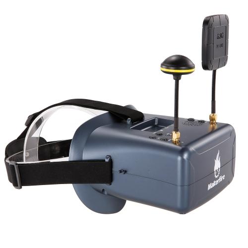 Makerfire VR008 Pro 5.8G 40CH Dual Receiver Doppia Antenna FPV Goggles con Altoparlante DVR per QAV 250 220 210 Quadcopter Racing