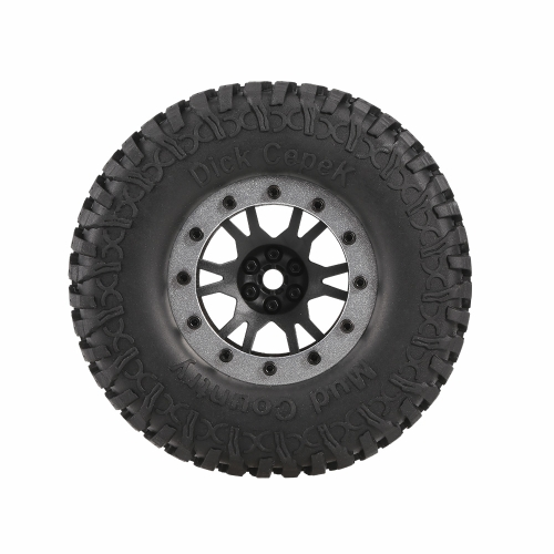 4pcs AUSTAR 3020-4 100mm 1.9in Rim Rubber Tyre Wheel Set for RC4WD D90 CC01 1/10 RC Rock Crawler Car