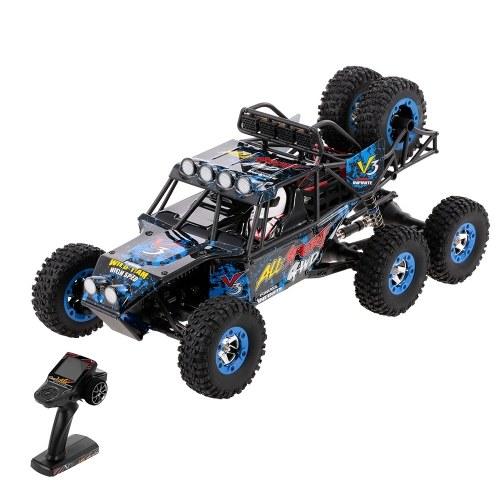 WLtoys 12628 1/12 2.4G 6WD ad alta velocità 40 km / h RC Rock Crawler fuoristrada mostro arrampicata auto giocattolo per bambini per i ragazzi