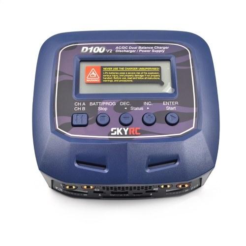 Originale SKYRC D100 V2 100W AC / DC Dual Balance Caricabatterie Scaricatore di corrente