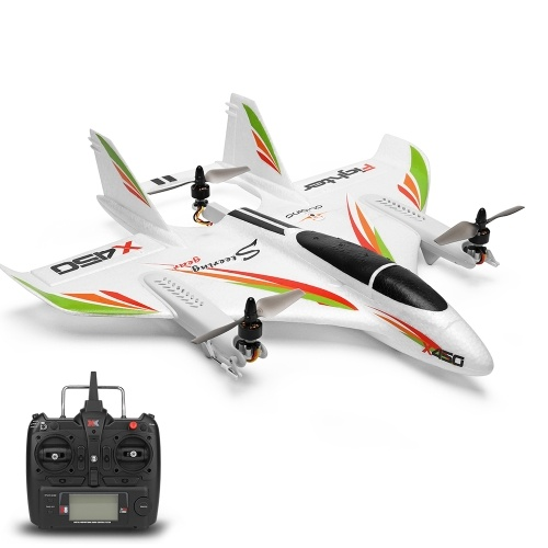 WLtoys XK X450 2.4G 6CH 3D/6G RC Helicopters Vertical Takeoff LED RC Glider Fixed Wing RC Airplane Aircraft RTF