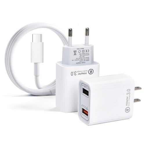 Compatibile con DJI Mini2 Quick Charge3.0 Caricabatteria a ricarica rapida Adattatore di alimentazione Doppie porte USB