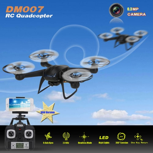Original DM007 2.4G 6 Axis Gyro 4 CH Wifi FPV RTF RC Quadcopter with 0.3MP HD Camera