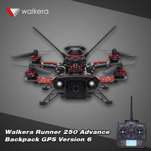 Original Walkera Runner 250 Advance GPS Backpack Version 6 RTF Drone with DEVO 7 and 800TVL Camera/OSD/GPS RC Quadcopter