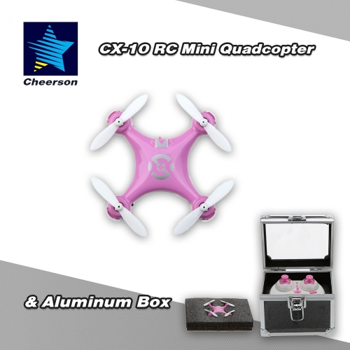 Original Cheerson CX-10 2.4G 6-Axis Gyro RTF Mini Drone Quadcopter & Aluminum Box