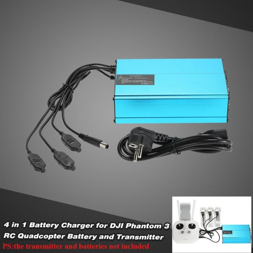 4 in 1 Battery Charger for DJI Phantom 3 RC Quadcopter Battery and Transmitter
