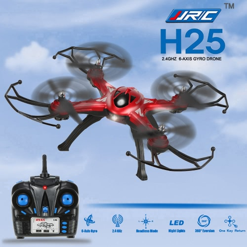 Original JJRC H25 2.4GHz 4CH 6-axis Gyro RC Quadcopter with One Key Return CF Mode 360° Eversion Function