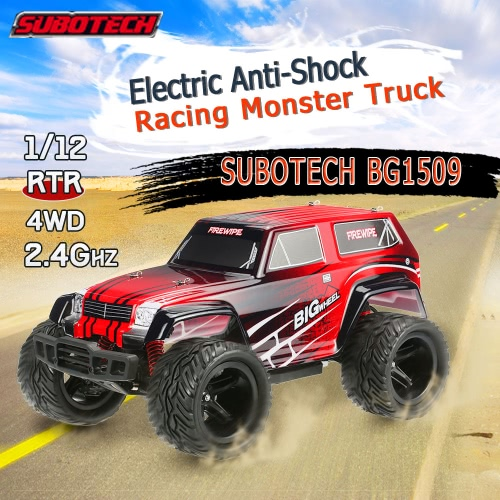Original SUBOTECH BG1509 1/12 RC Car 2.4G 2CH 4WD High Speed Racing RTR Monster Truck