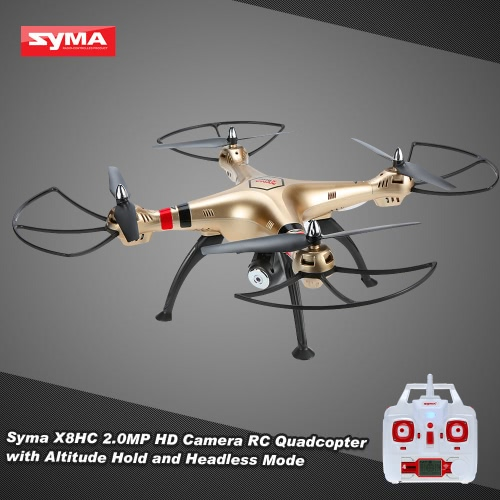 Original Syma X8HC 2.0MP HD Camera RC Quadcopter with Altitude Hold and Headless Mode
