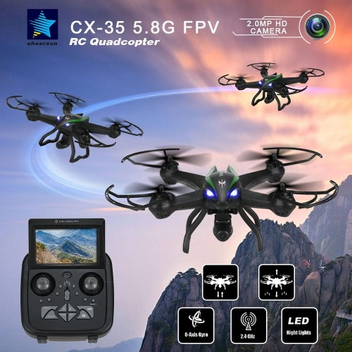 Original Cheerson CX-35 2.4G 4CH 6-Axis Gyro 5.8G FPV Built-in Barometer Set High RC Quadcopter with 2.0MP HD Camera