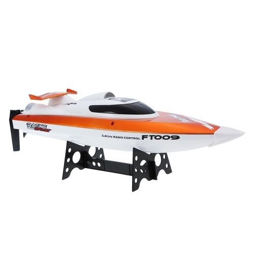 FEI LUN FT009 2.4G Système de refroidissement par eau 4CH Auto-redressant 30km / h Racing High Speed Boat RC