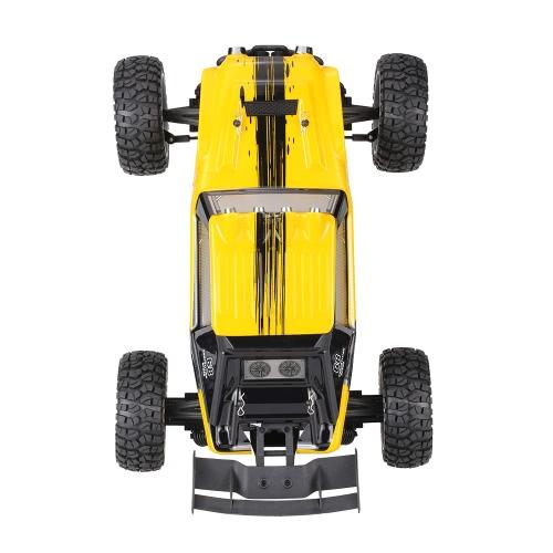 HBX 12891 1/12 2.4G 4WD coche impermeable del desierto coche de carreras RTR RC coche con luces LED