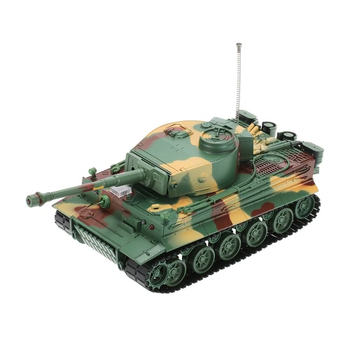 Original HENG LONG 3828 1/26 Scale German Tiger Panzer 27MHz Multifunctional RC Battle Tank with Simulated Sound and Light